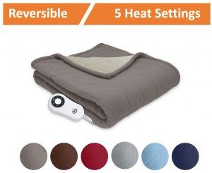 Serta Reversible Heated Electric Throw Blanket