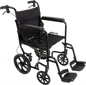 Roscoe Medical- ProBasics Aluminum Transport Wheelchair
