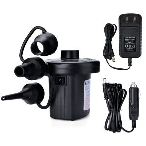 AGPTEK Electric Portable Quick-Fill Air Pump for Outdoor Camping, Inflatable Cushions, Air Mattress