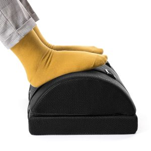 Nekmit Adjustable Multifunctional Non-Slip Foot Rest for Home and Office