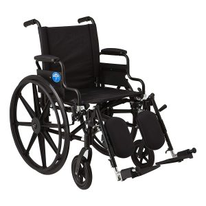 Medline Premium Ultra-lightweight Elevating Leg Rests Wheelchair