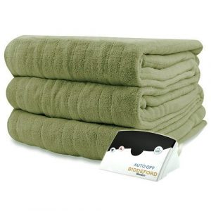 Pure Warmth MicroPlush Electric Heated Blanket