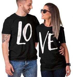 f2c8bb928 HAASE UNLIMITED Matching Couple LO VE - Valentine T-Shirt