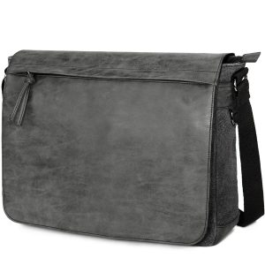 "Tocode Mens Laptop Messenger Bags 15.6"" Water Resistant PU Leather Shoulder Bag"