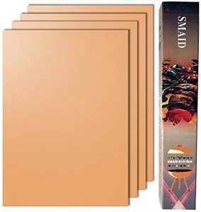 SMAID Copper Non-Stick BBQ Grill Mats, Reusable and Easy To Clean