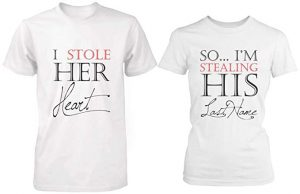 365 in Love Romantic Matching Couple Shirts