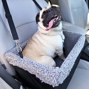 Devoted Doggy Deluxe Dog Booster Car Seat with Metal Frame Construction