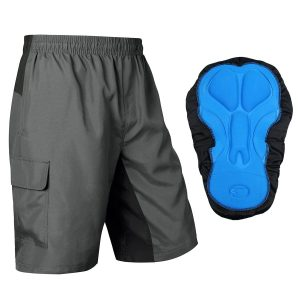 Baleaf Mens 3D Padded Baggy MTB Cycling Breathable Quick Dry Shorts