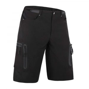 Cycorld Mens Water Repellent MTB Shorts, Loose Fit Cycling Pants with Zip Pockets