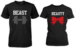 365 In Love Beauty and Beast Couple Cute Matching T-Shirts