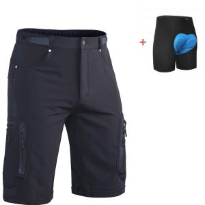 Ally Mens MTB Cycling Mount Biking Riding Shorts Cycle Wear Relaxed Loose-fit