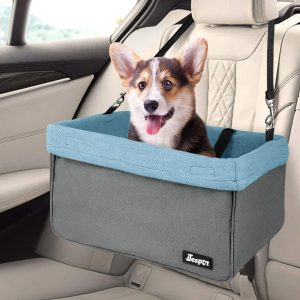 JESPET Portable Dog Car Seat Travel Carrier with Seat Belt