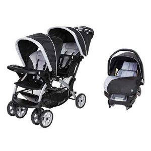 Baby Trend Sit N Stand Tandem Stroller with Infant Car Seat Travel System