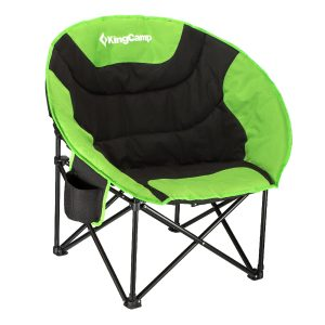 KingCamp Moon Saucer Camping Chair Steel Frame Folding with Cup Holder