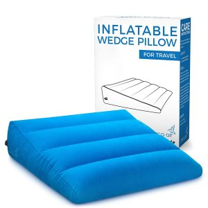 Circa Air Inflatable Wedge Pillow, Lightweight and Extra Wide for Comfort