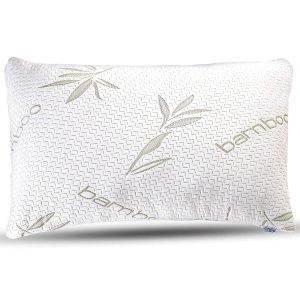 Sleepsia Bamboo Premium Memory Foam Pillow with Washable Pillow Case