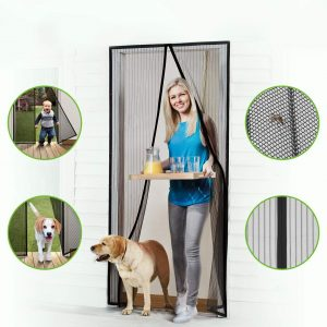 Homitt Heavy Duty Mesh Curtain and Full Frame Hook & Loop