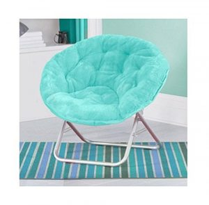 Mainstay Luxury Padded Faux-Fur Saucer Chair