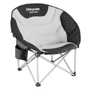 KingCamp Moon Saucer Heavy-Duty Steel Camping Chair Padded Seat