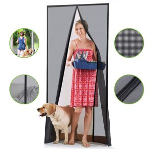 Homitt Magnetic Screen Door Durable Fiberglass Mesh Curtain