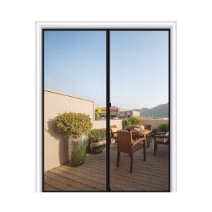 MAGZO Fiberglass Sliding Door Mesh Curtain Magnetic Screen Door
