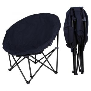 Yescom Large Folding Moon Chair Padded Comfort Lounge Bedroom Garden Furniture