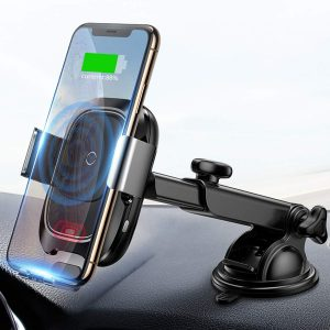 Baseus 10w Automatic Infrared Qi Fast Charging Car Wireless Charger Mount