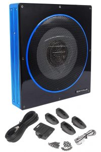 Rockville RW10CA 10 Inch 800 W Slim Low Profile Active Powered Car Subwoofer