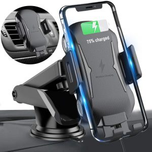 Homder, 10W 7.5W Qi Fast Charging Auto-clamping Wireless Car Charger Phone Holder
