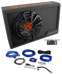 Rockville RWS12CA Slim 1200W 12-inch Powered Car Subwoofer Enclosure and Wire Kit