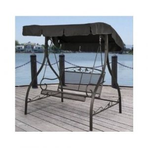 BLOSSOMZ Outdoor Porch Swing Deck Furniture with Canopy