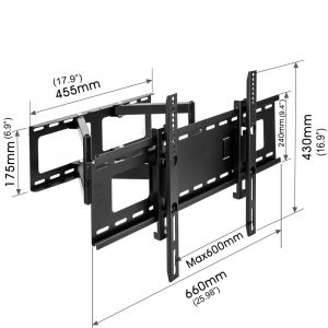 Sunydeal Curved TV Wall Mount Bracket