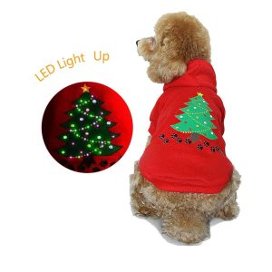 Royalwise Light up Costume LED Clothes Dog Christmas Shirt