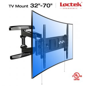 Loctek Long Extension Curved TV Wall Mount Bracket