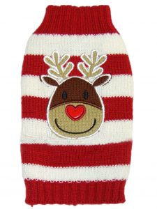 Moolecole Christmas Knitted Sweater Cute Reindeer Pet Dog