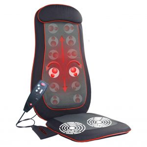 IDODO Shiatsu Seat Cushion, Back Massager with Hea