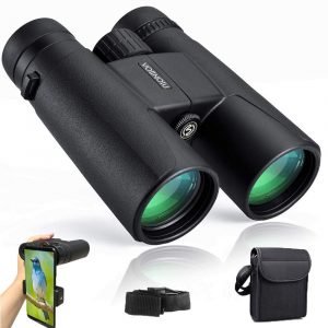 Binoculars for Adults Compact,12x42 HD BAK4 Roof Waterproof Binocular by Voiinoiu