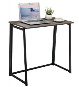 GreenForest Industrial Style Folding Computer Desk