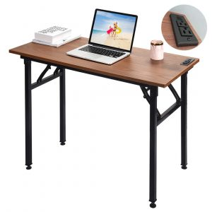Frylr Upgraded Folding Computer Desk with Charging System