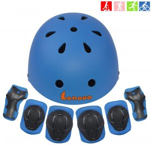 Lanova 3-8 Years Toddler Helmet Kids with Knee Elbow Pads Wrist Guards