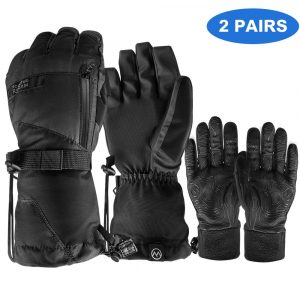 OutdoorMaster 3-in-1 Ski Gloves for Men