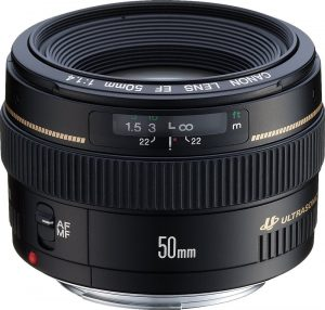 Canon EF USM 50mm f 1.4Telephoto Lens