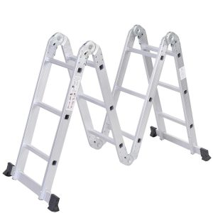 Safeplus Aluminum Lightweight 3.3ft Multi-Purpose Folding Ladder