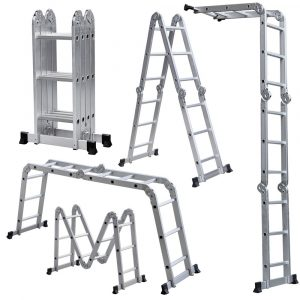 Rrt Light Weight Multi-Purpose 12' Aluminum Ladder - 300 LB Capacity
