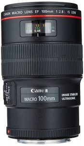 Canon EF 100mm 2.8L IS USM Macro Lens for SLR Cameras