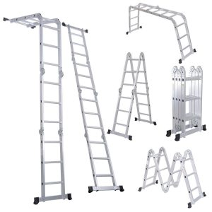Luisladders 7 in 1 Multi-Purpose Aluminium Extension Folding Ladder