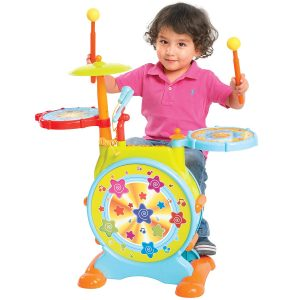 Best Choice Products Multicolor Kids Electronic Toy Drum Set