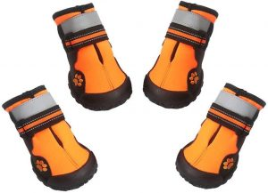 ASMPET Waterproof Dog Boots Reflective Anti-Slip Sole Snow Boots