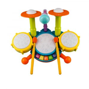 Rabing Kids Drum Set with Flash Light and Microphone