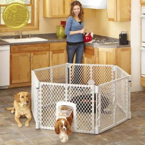 pet enclosure with lockable pet door by North States Pet